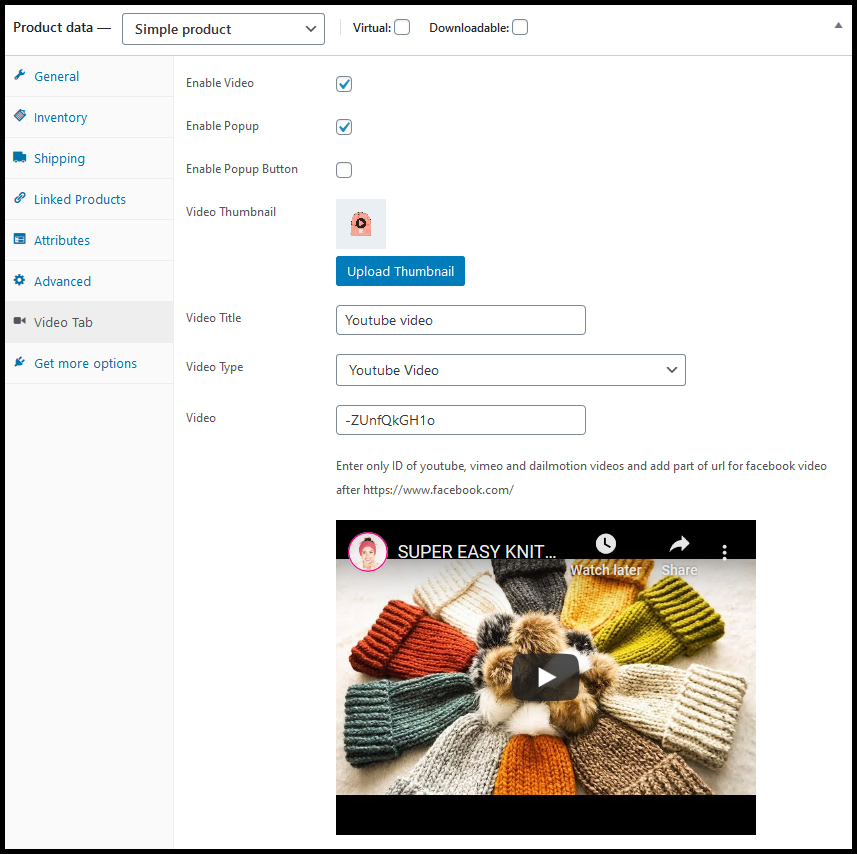 WooCommerce Product Featured Video Plugin - 3