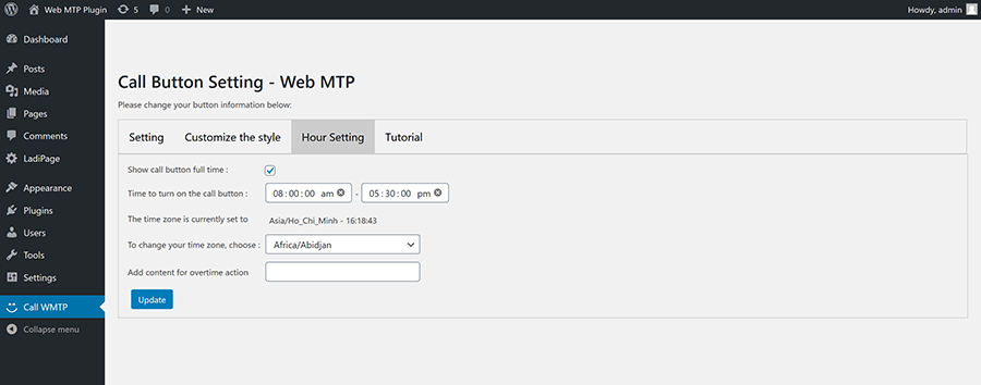 Create custom call and social button for WordPress - 5