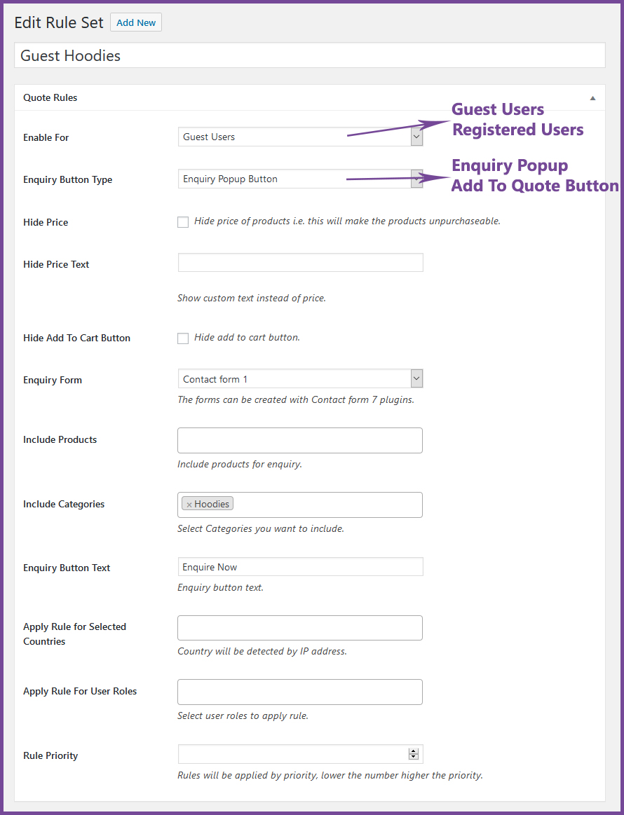 WooQuote - WooCommerce Product Enquiry & Request A Quote Plugin - 4