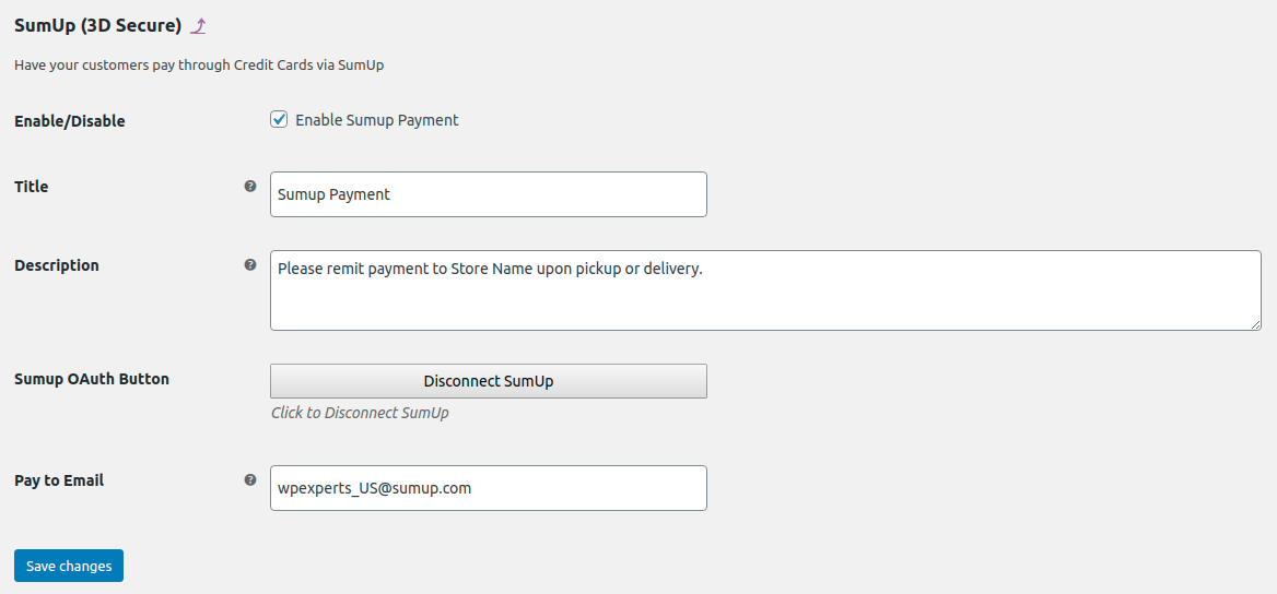 SumUp Payment Gateway For WooCommerce - 4