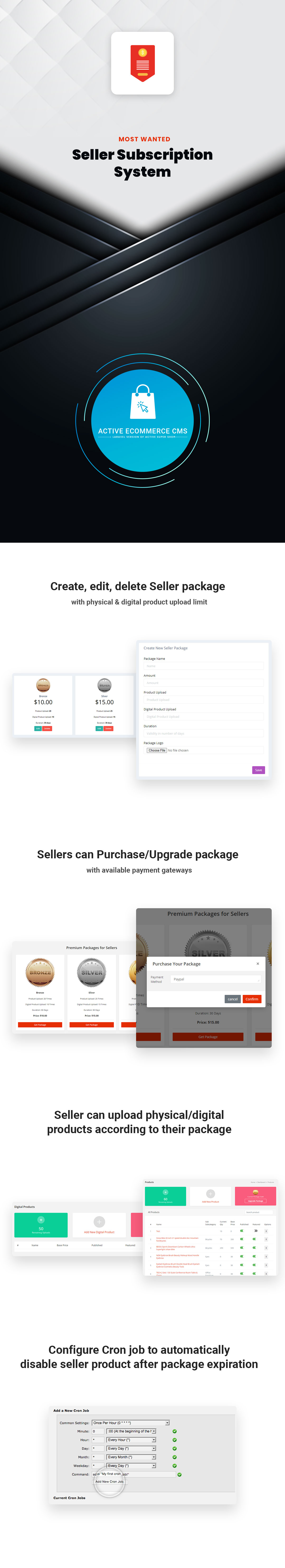 Active eCommerce Seller Subscription Add-on - 1