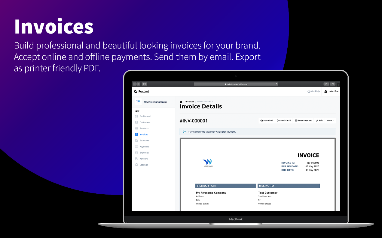 Foxtrot SaaS - Customer, Invoice and Expense Management System - 8