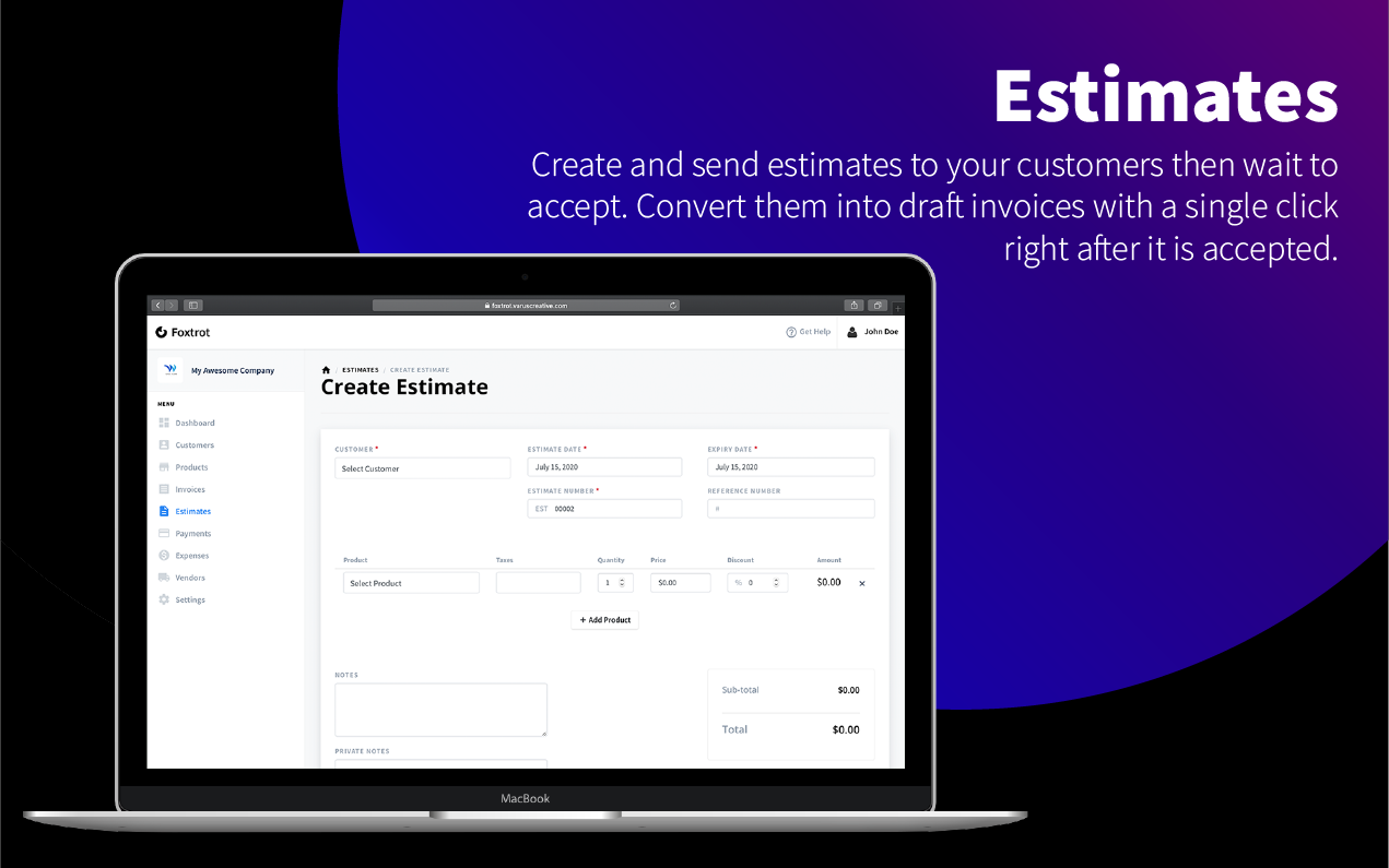 Foxtrot SaaS - Customer, Invoice and Expense Management System - 9
