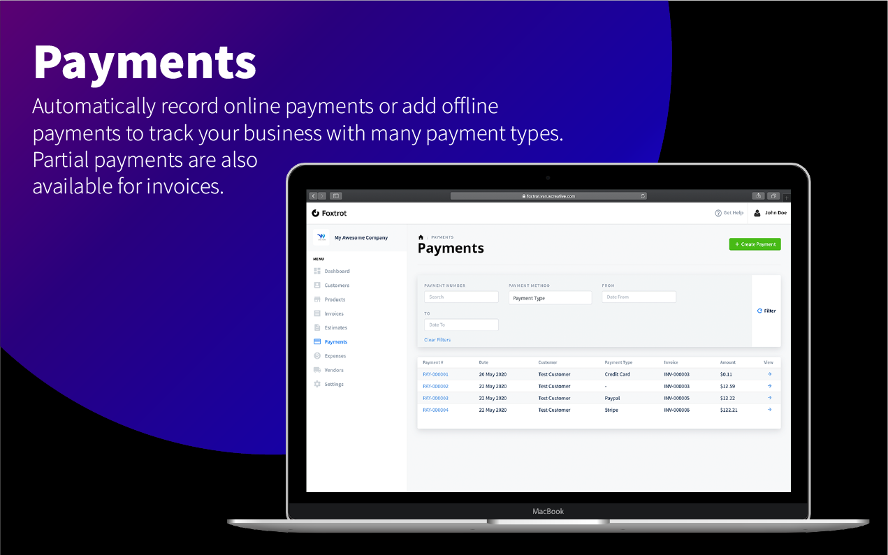Foxtrot SaaS - Customer, Invoice and Expense Management System - 10