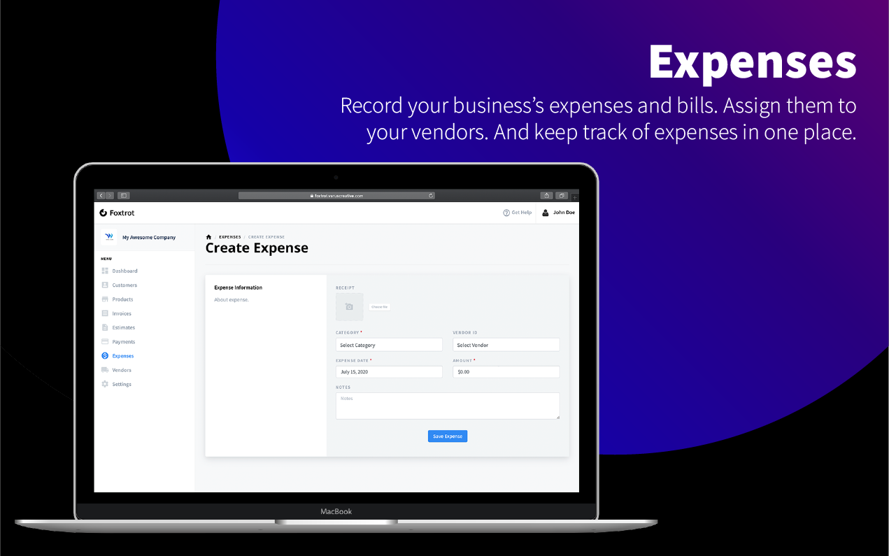 Foxtrot SaaS - Customer, Invoice and Expense Management System - 11