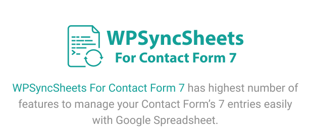 WPSyncSheets For Contact Form 7 - Contact Form 7 Google Spreadsheet Addon - 5