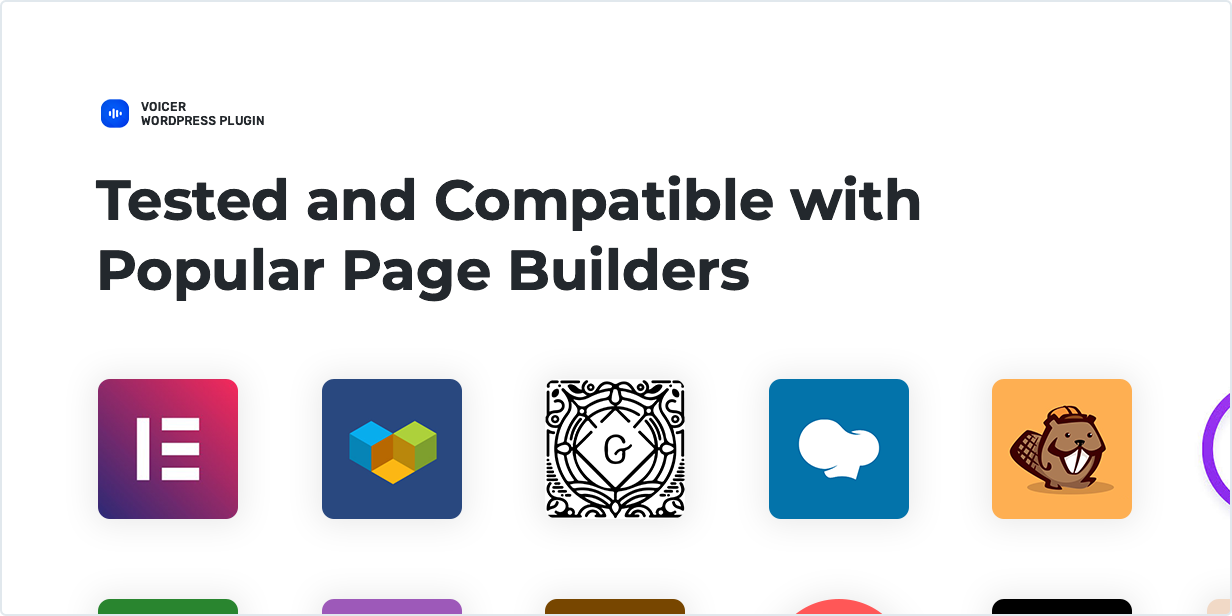 Tested and compatible with popular Page Builders