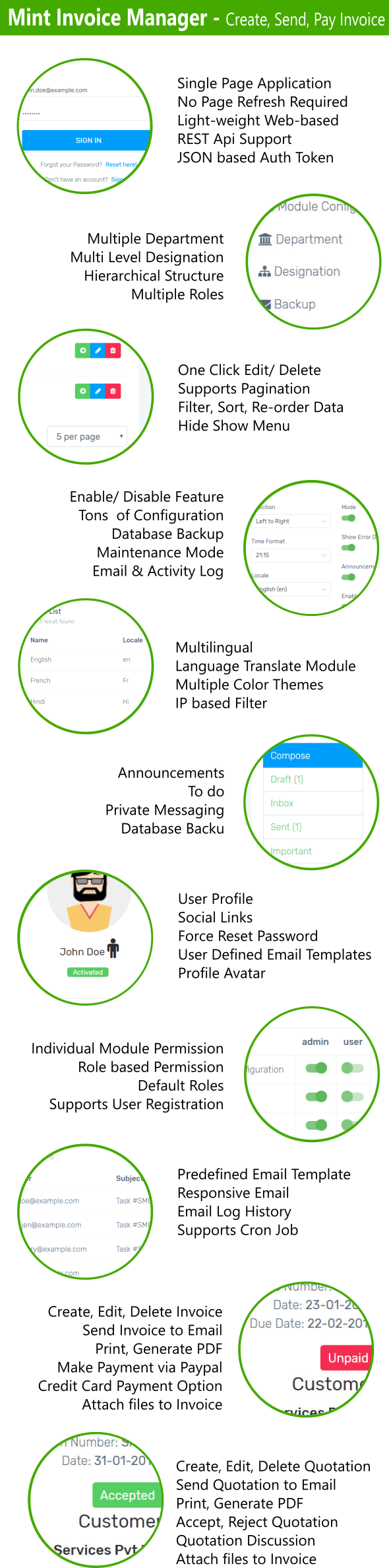 Mint Invoice - Create, Send, Pay Invoices, Paypal & Stripe Payment Gateway - 4