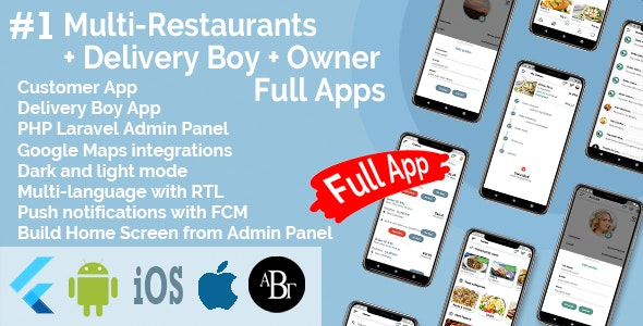 Flutter E-commerce Multi Vendor Marketplace Solution with Web Site (3Apps+PHP Admin Panel+Web Site) - 14