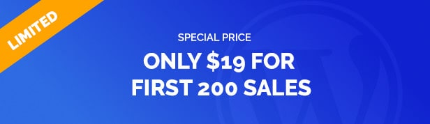 Only $19 for first 200 Sales