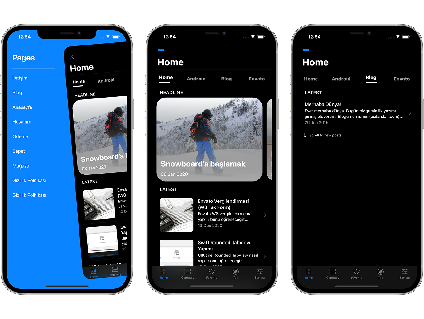 SwiftUI iOS WordPress App for Blog and News Site with AdMob, Firebase Push Notification and Widget - 6