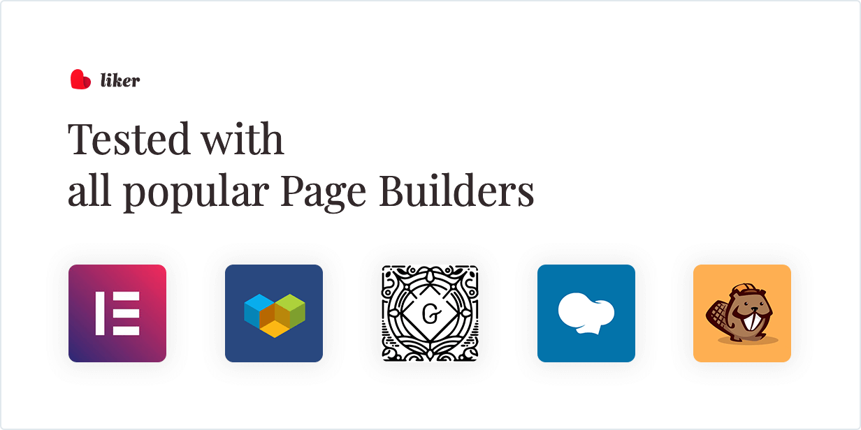 Tested with all popular Page Builders