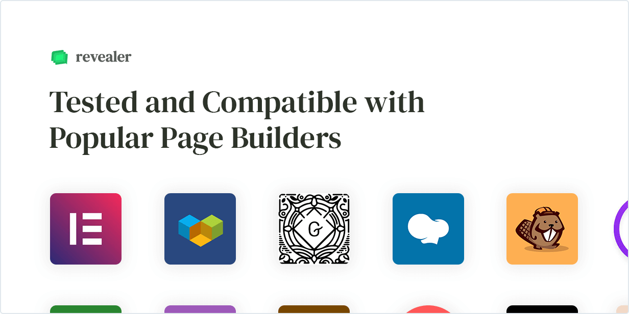 Tested with popular Page Builders