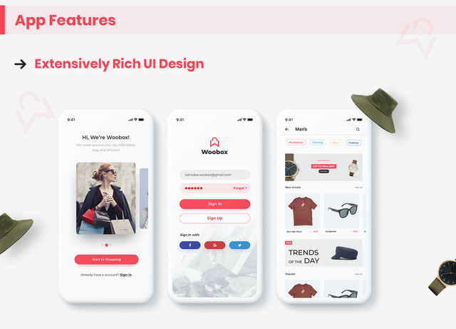 WooBox - WooCommerce iOS App  E-commerce Full Mobile App + Swift 4 - 5
