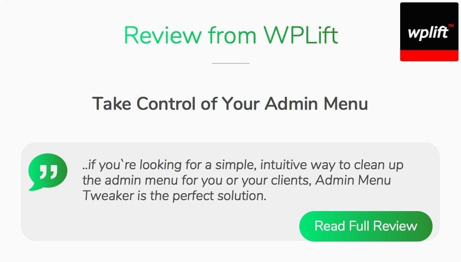 Admin Menu Tweaker for WordPress - 9