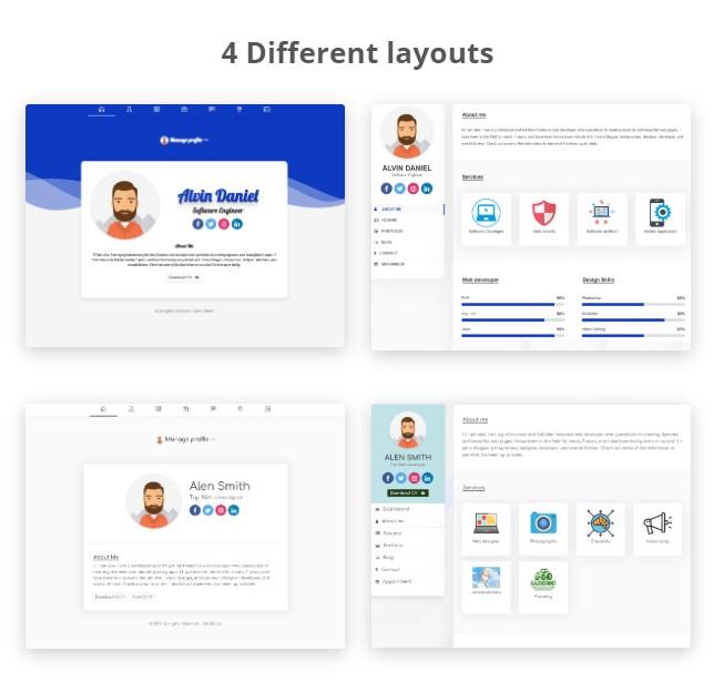 Profile.me - Saas Multiuser Profile Resume & Vcard Script - 4