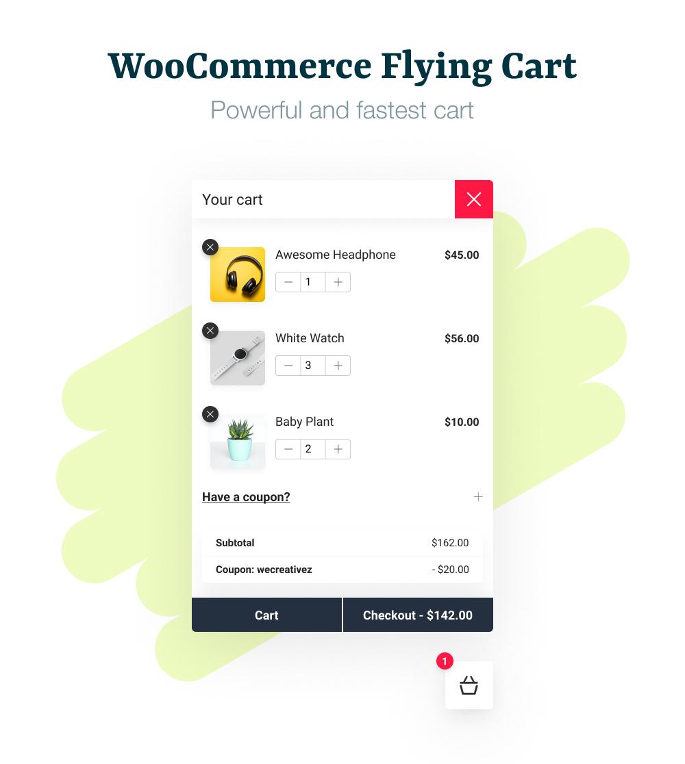 WooCommerce Flying Cart Main Banner