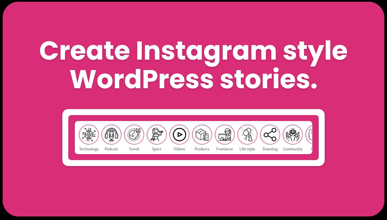 Instagram style stories for WordPress - BP Story - 3