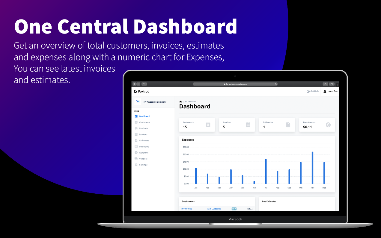 Foxtrot SaaS - Customer, Invoice and Expense Management System - 4