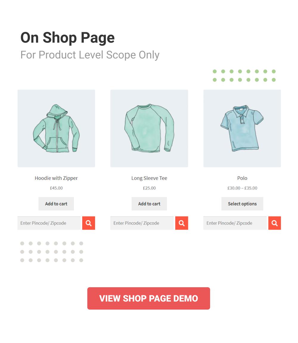 WooCommerce Pincode/ Zipcode Checker - 7
