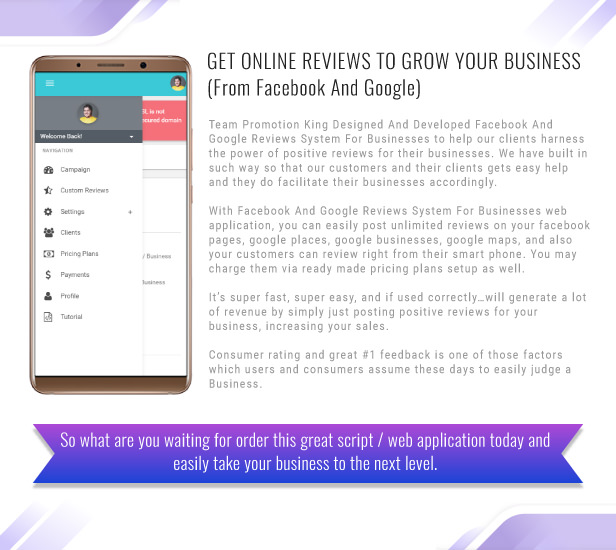 Get Online Reviews To Grow Your Business Facebook And Google Reviews System For Businesses