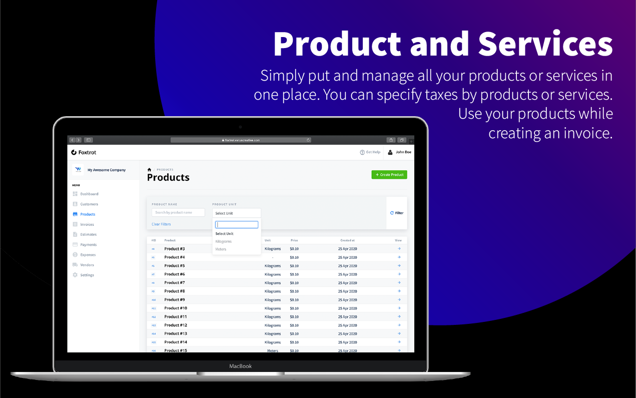 Foxtrot SaaS - Customer, Invoice and Expense Management System - 7