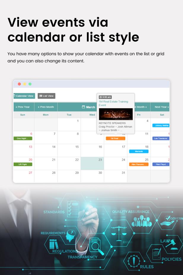 Facebook Events Calendar For WordPress - 10