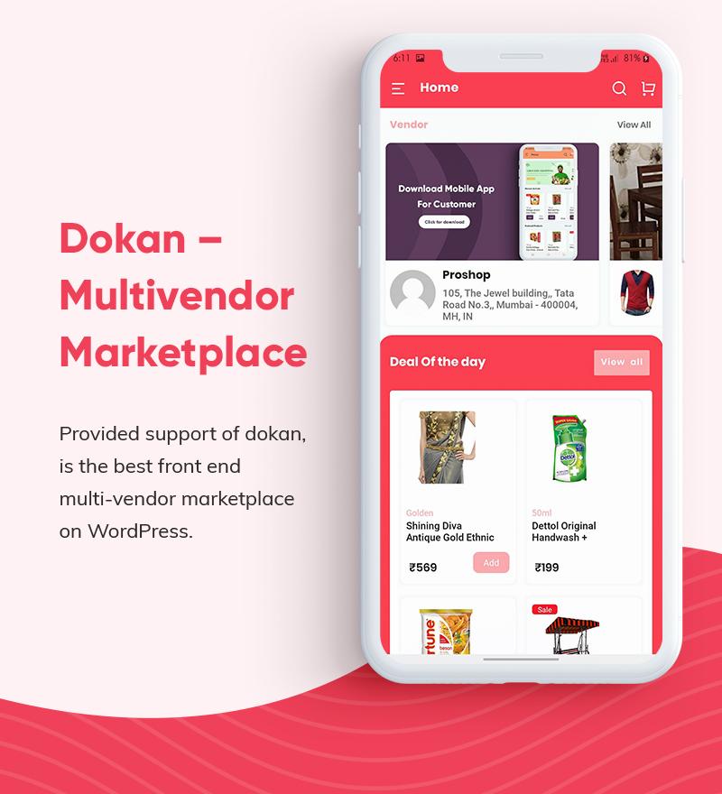 ProShop Dokan Multi Vendor - Android E-commerce Full App for Woocommerce - 9