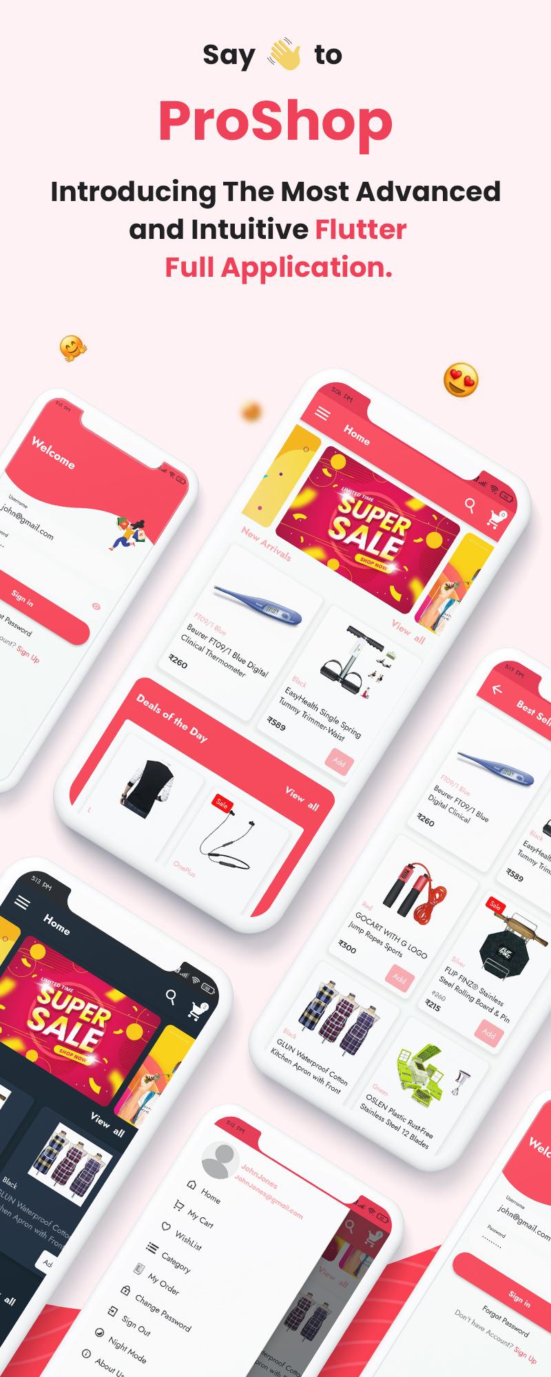 ProShop Dokan Multi Vendor - Flutter E-commerce Full App for Woocommerce - 6