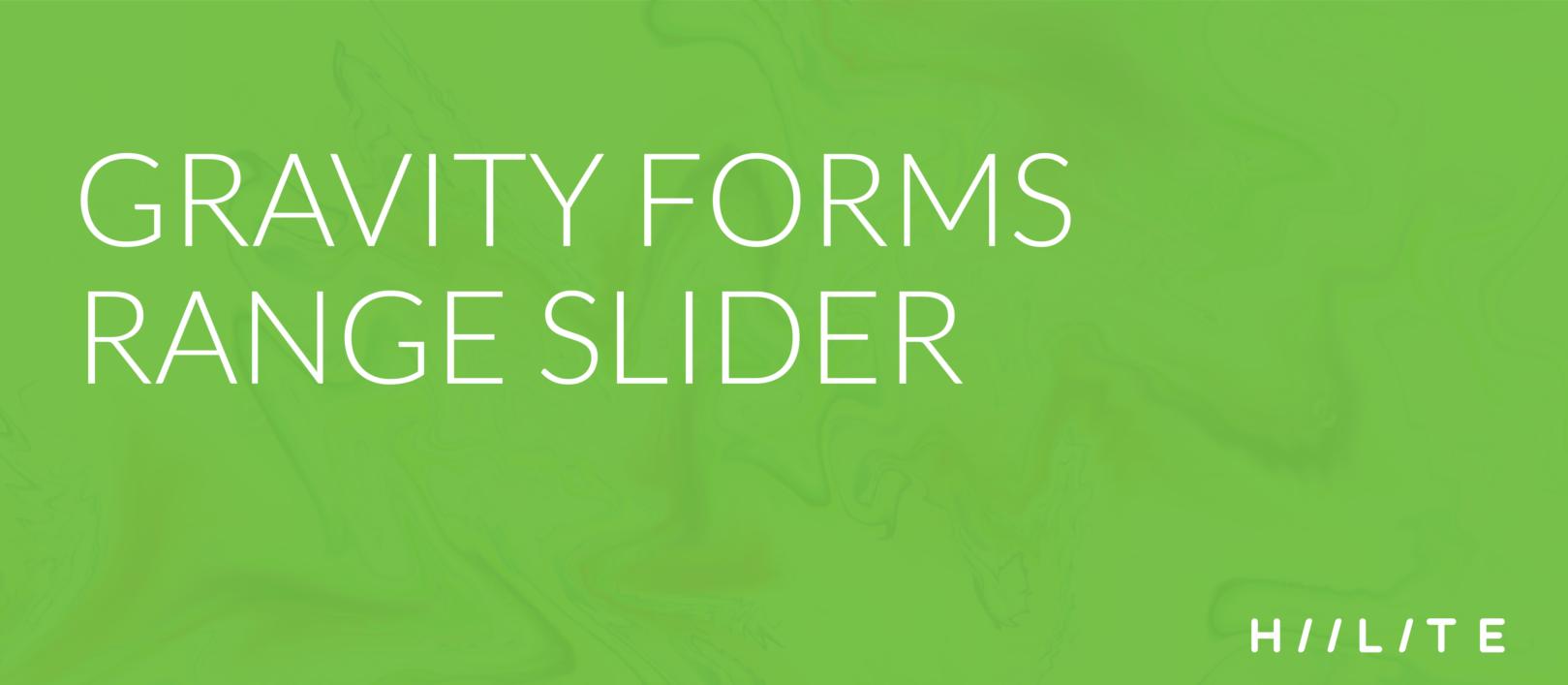 Gravity Forms Range Slider - 1