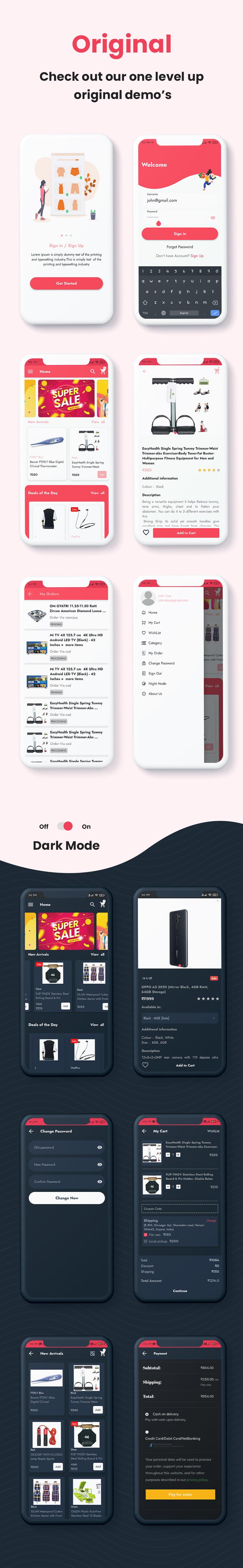 ProShop Dokan Multi Vendor - Android E-commerce Full App for Woocommerce - 22