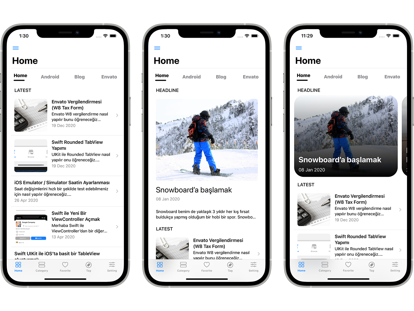 SwiftUI iOS WordPress App for Blog and News Site with AdMob, Firebase Push Notification and Widget - 3
