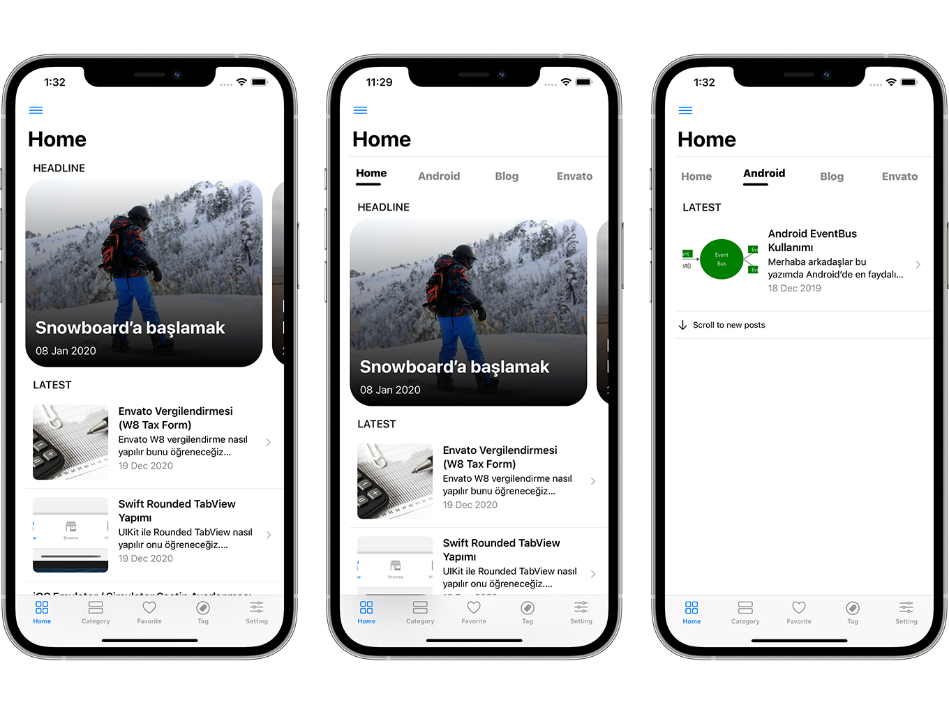 SwiftUI iOS WordPress App for Blog and News Site with AdMob, Firebase Push Notification and Widget - 4