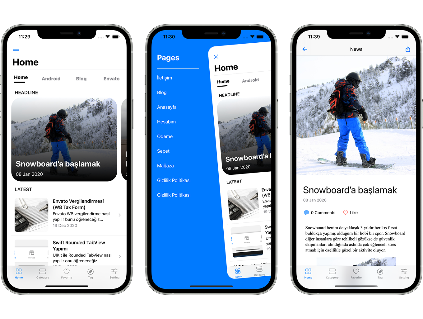 SwiftUI iOS WordPress App for Blog and News Site with AdMob, Firebase Push Notification and Widget - 5