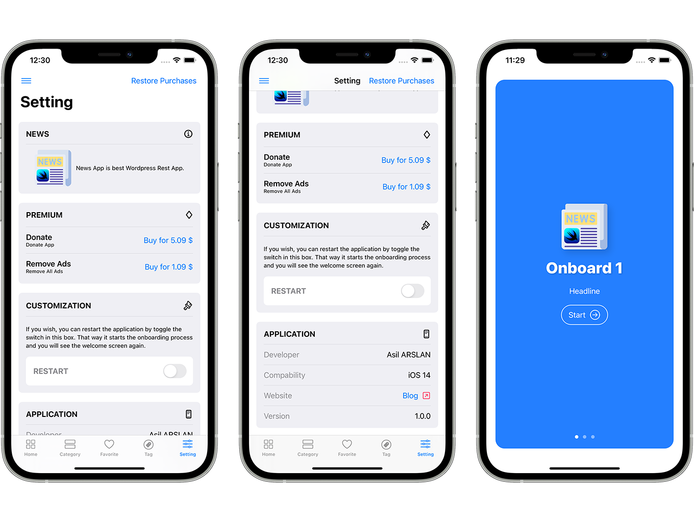 SwiftUI iOS WordPress App for Blog and News Site with AdMob, Firebase Push Notification and Widget - 7
