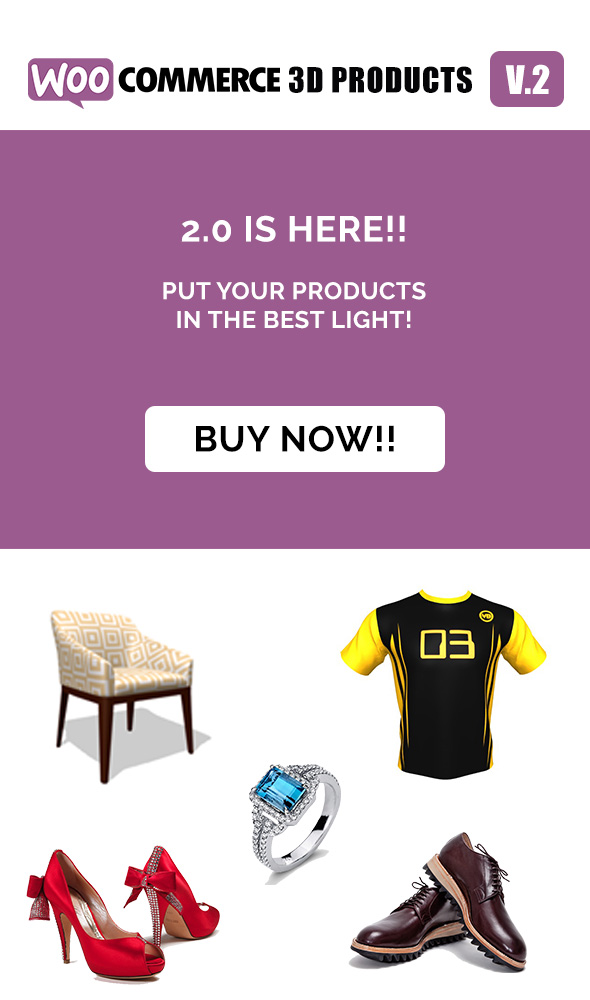 Woocommerce 3D Products - 3