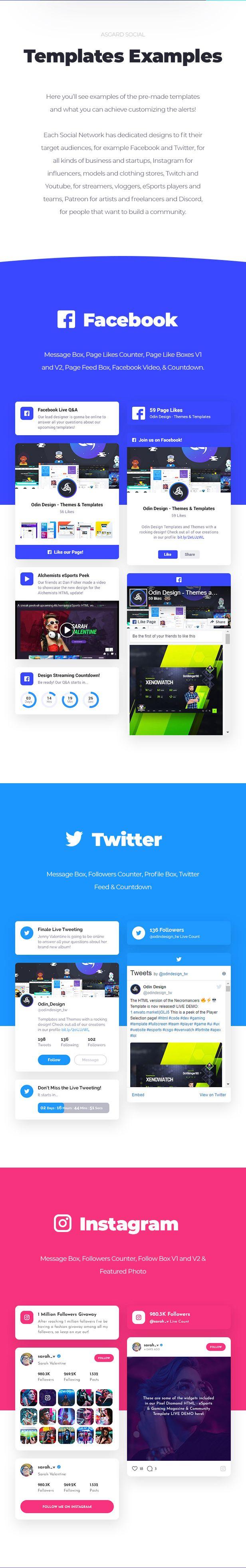 Asgard - Social Media Alerts & Feeds WordPress Builder - Facebook, Instagram, Twitch and more! - 14