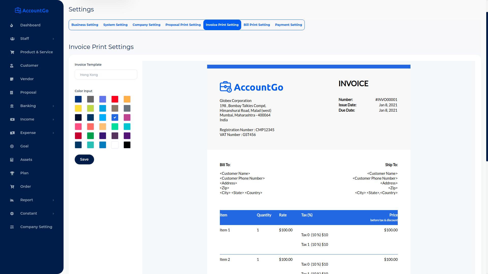 AccountGo SaaS - Accounting and Billing Tool - 17