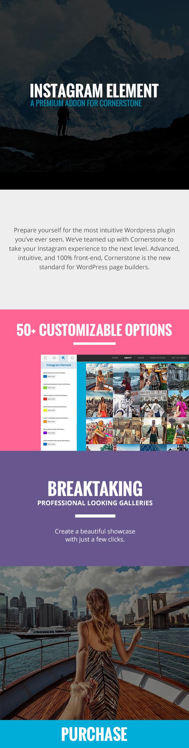 Instagram Element - Cornerstone Element for WordPress - 2