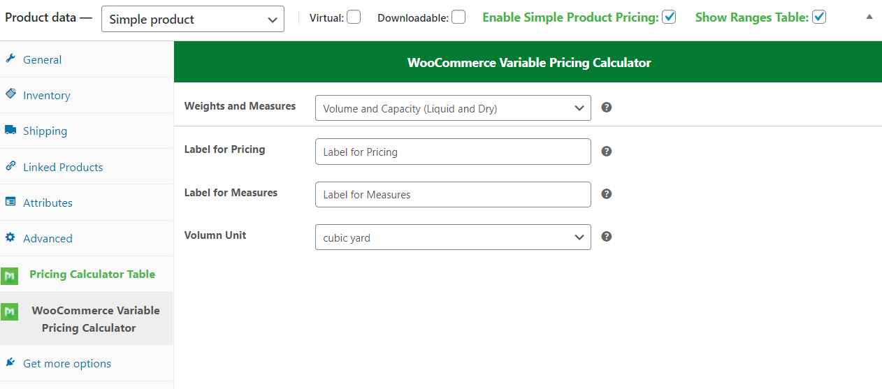 WooCommerce Variable Pricing Calculator (Addons Simple Product) - 2
