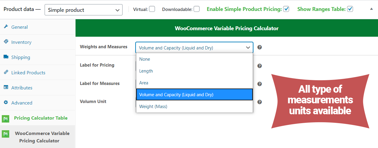 WooCommerce Variable Pricing Calculator (Addons Simple Product) - 3