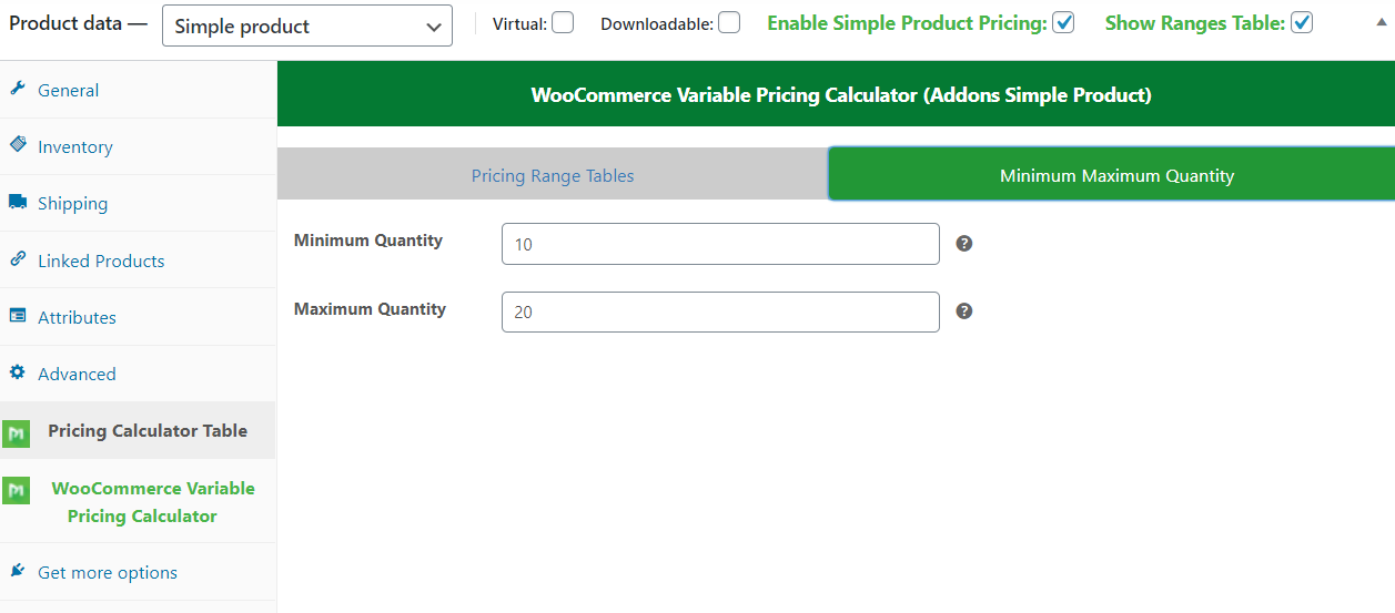 WooCommerce Variable Pricing Calculator (Addons Simple Product) - 4
