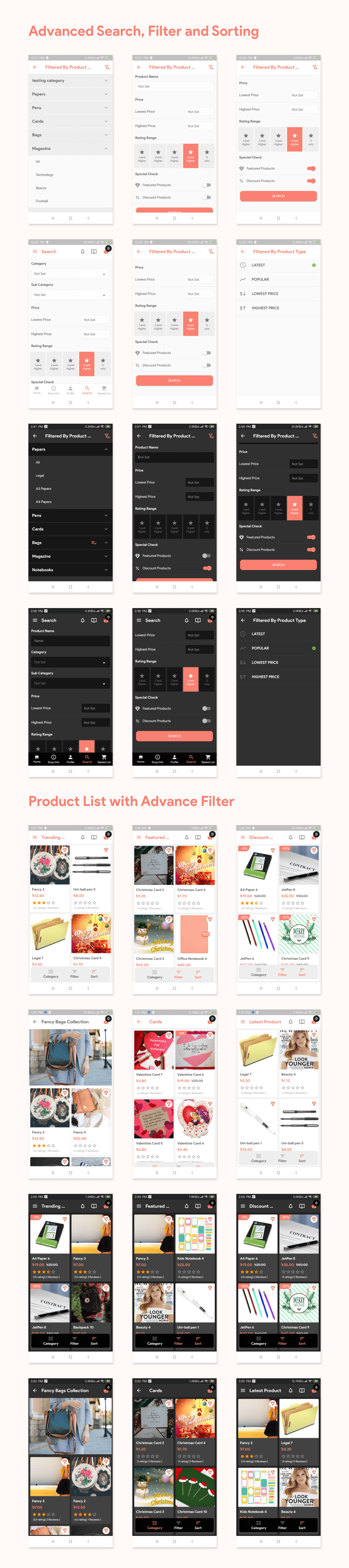 Flutter Store ( Ecommerce Mobile App for iOS & Android with same backend ) 1.7 - 9
