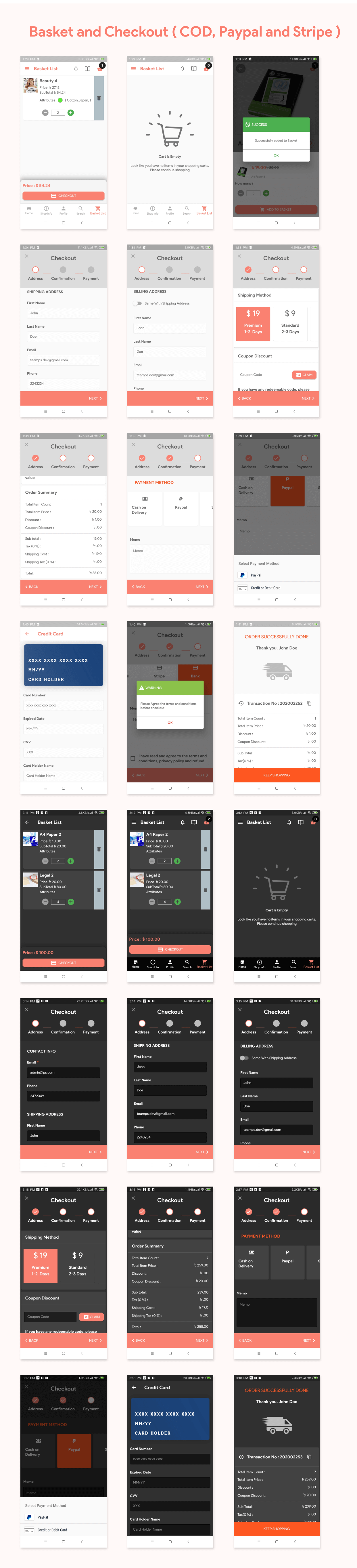 Flutter Store ( Ecommerce Mobile App for iOS & Android with same backend ) 1.7 - 11