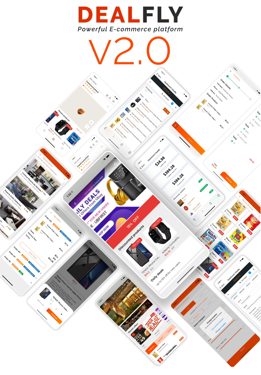Dealfly - E-commerce & multi-vendors marketplace,Offers, Subscription system - iOS & Android - v2.1 - 1
