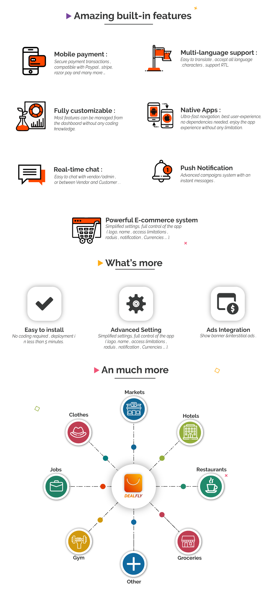 Dealfly - E-commerce & multi-vendors marketplace,Offers, Subscription system - iOS & Android - v2.1 - 3