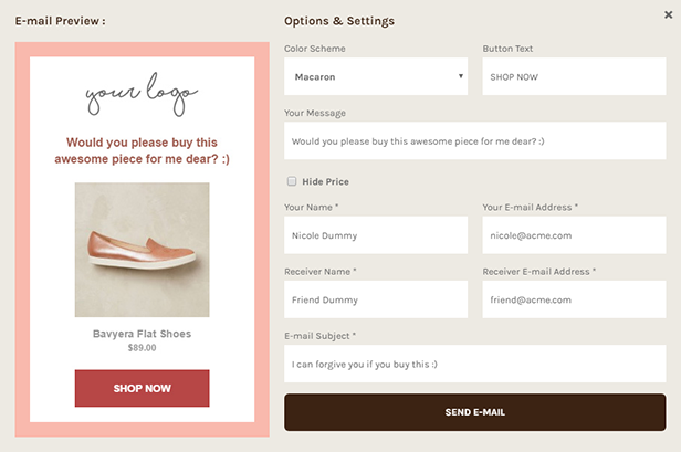 Buy For Me Plugin - Preview