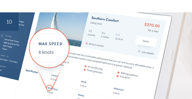 Boat and Yacht Charter Booking System for WordPress - 8