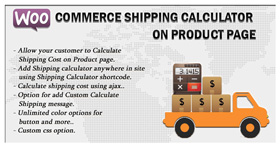 Woocommerce Shipping Calculator On Product Page