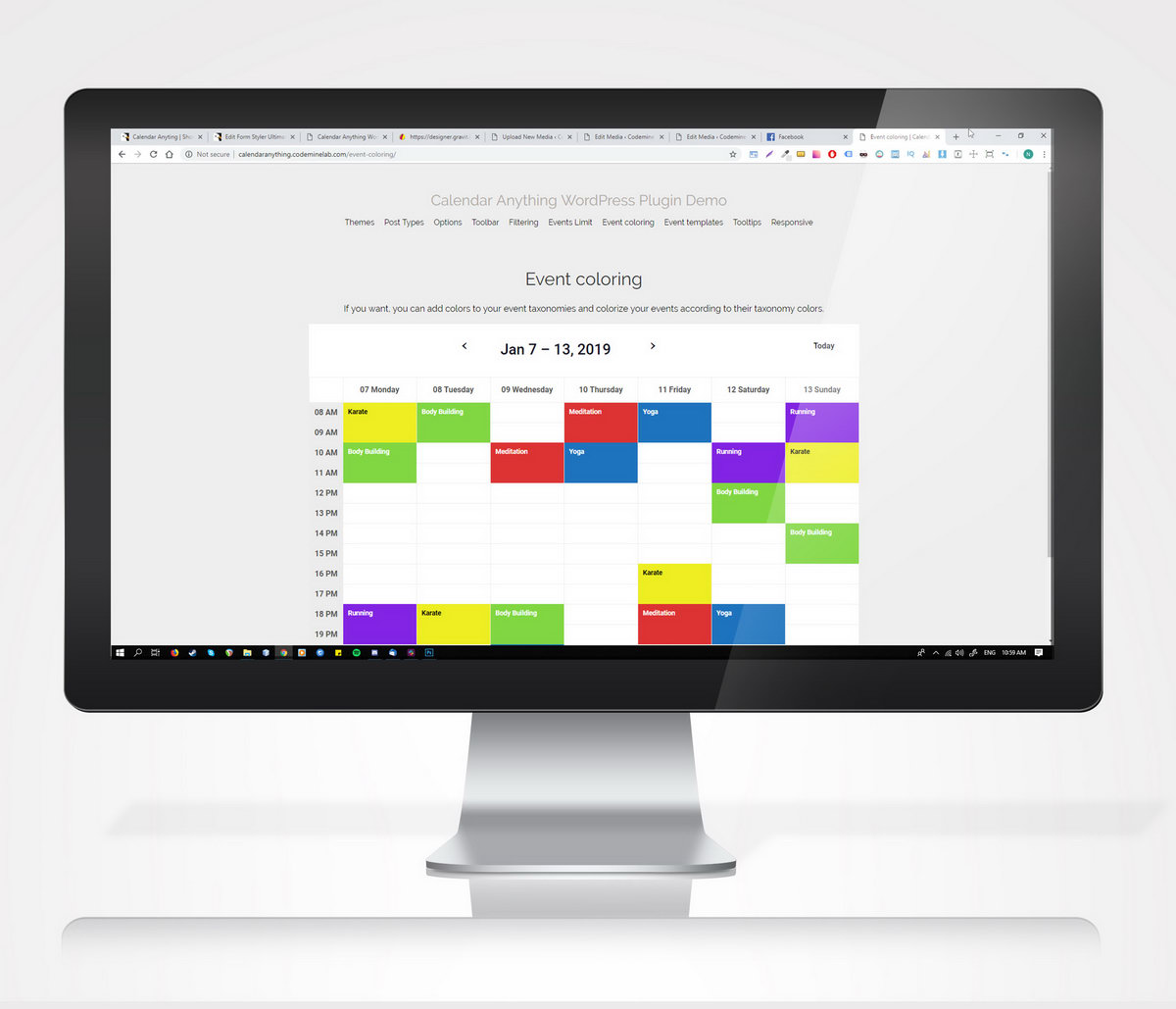 Calendar Anything | Show any existing WordPress custom post type in a calendar - 3